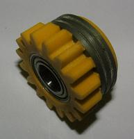 Подающий ролик, 1.6 / 1.6 с насечкой, с шариковым подшипником, желтый, Kemppi, 3141130
