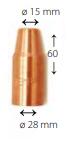 Газовое сопло X8 400-G, Kemppi, W011472